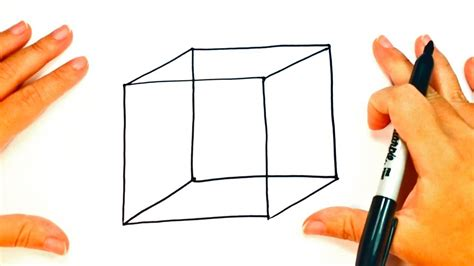 How to draw a Cube step by step   Cube Easy Draw Tutorial ...
