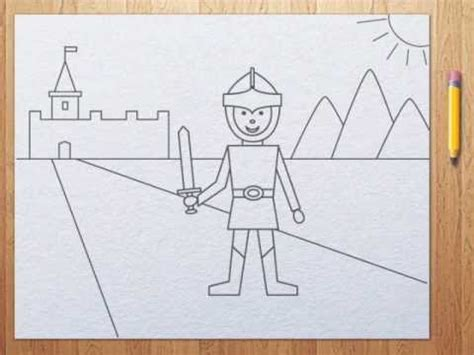 How to draw a knight step by step tutorial for kids   YouTube