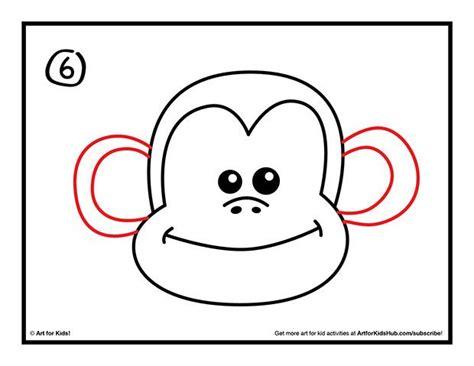 How To Draw A Monkey   Art For Kids Hub     Art ...