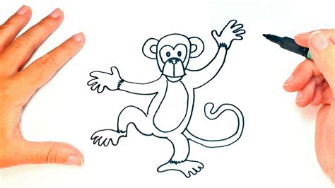 How to draw a Monkey for kids   Monkey Drawing Lesson Step ...