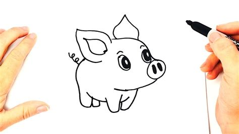 How to draw a Piggy or Piglet or Little Pig   YouTube