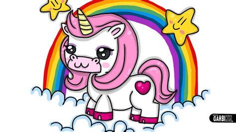 How to Draw a Pink Unicorn Kawaii by Garbi KW   YouTube