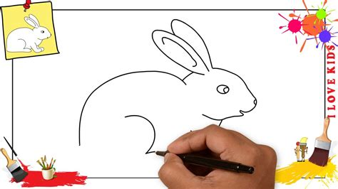 How to draw a rabbit SIMPLE & EASY step by step for kids ...