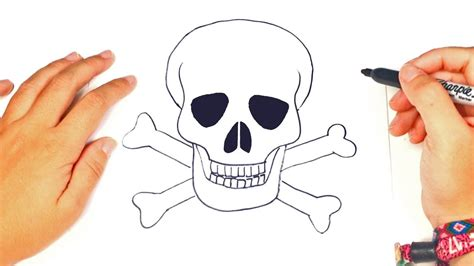 How to draw a Skull Step by Step   Skull Drawing Lesson ...