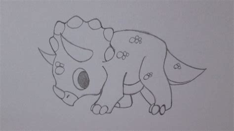How to draw a triceratops dinosaur   YouTube