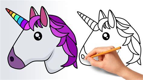 How to Draw a Unicorn Emoji   Step by Step   YouTube
