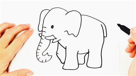 How to draw an Elephant Step by Step   Easy drawings   YouTube
