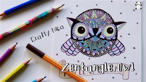 HOW TO DRAW AN OWL  Zentangle animals. Easy drawings for ...