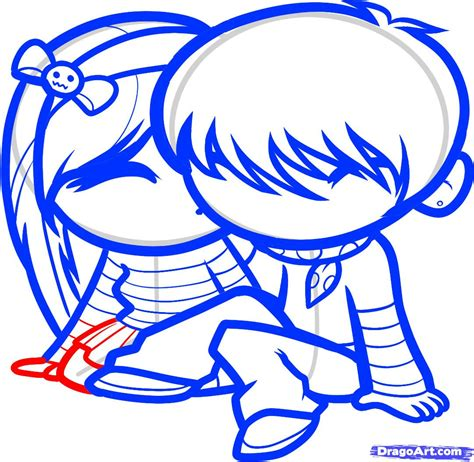 How to Draw Cute Love, Cute Love, Step by Step, People For ...
