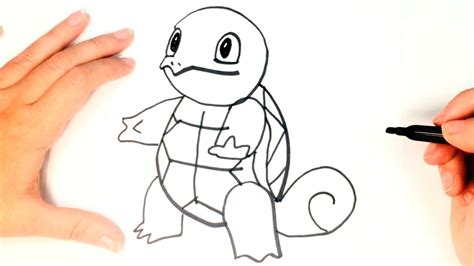 How to draw Squirtle Pokemon Step by Step   Squirtle Easy ...