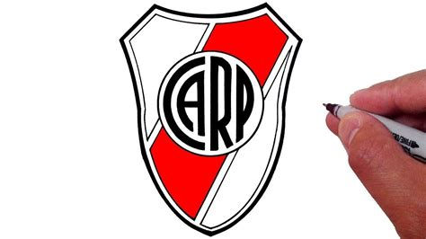 How to Draw the Club Atlético River Plate Logo  Desenhar o ...
