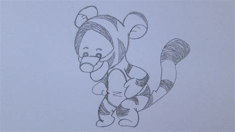 How to draw Tigger from Winnie the Pooh   YouTube