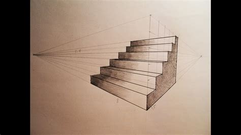How to draw   Two point perspective   stairs   tutorial ...