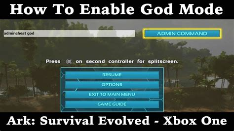 How To Enable God Mode   Ark: Survival Evolved   Xbox One ...