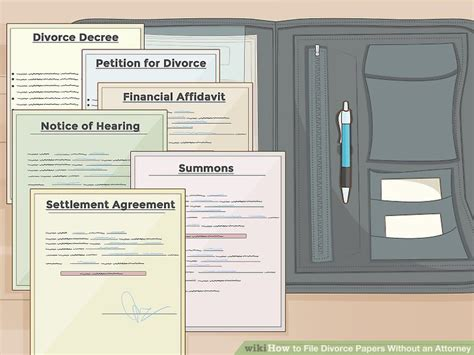 How to File Divorce Papers Without an Attorney  with Pictures