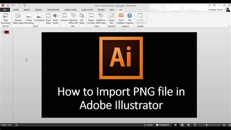How to Import PNG file in Adobe Illustrator   YouTube