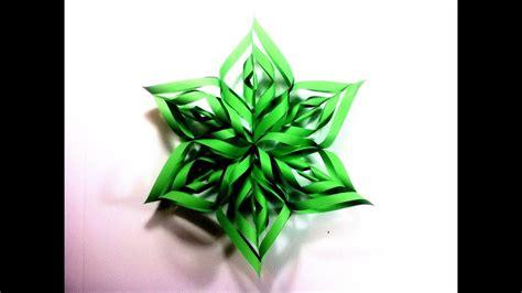 How to Make a 3D Paper Star Xmas Ornament  DIY Tutorial ...