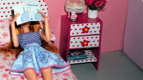 How to make a bedside table or nightstand for dolls ...