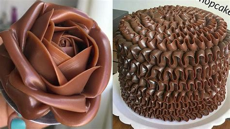 How To Make A Chocolate Cake Decorating  Most satisfying ...