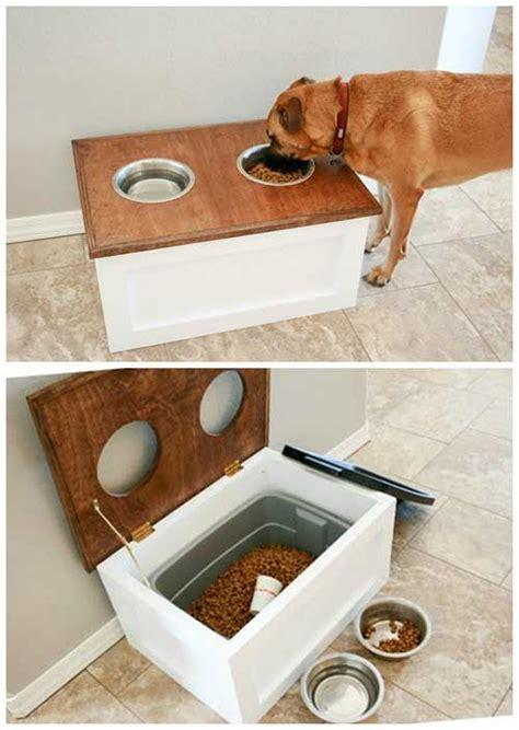 How To Make A Dog Feeding Station With Storage   Diy dog ...