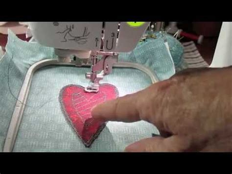 How to Make a Heart Using Appliqué Embroidery on the ...