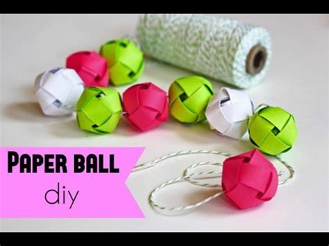 How to make a paper ball DIY  very very easy craft    YouTube