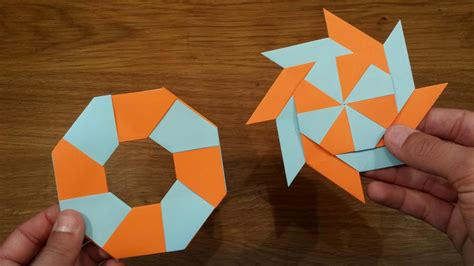 How To Make a Paper Transforming Ninja Star   Origami ...