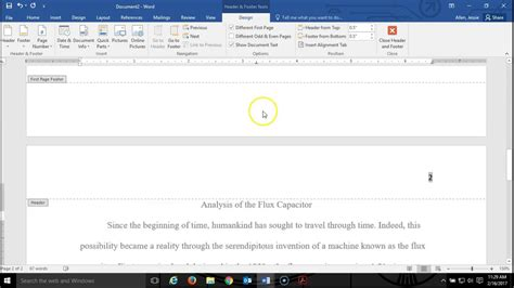 How to Make a Running Head in APA Style with MS Word   YouTube