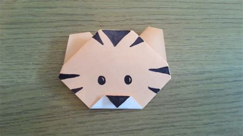 How To Make A Simple Origami Tiger   YouTube