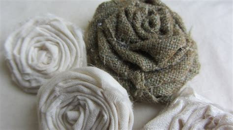 How to Make Adorable Vintage Shabby Chic Rolled Fabric ...