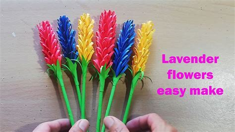 How to make beautiful lavender flowers paper very easy diy ...