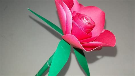 How To Make Easy Realistic Paper Rose Like Real   Simple ...