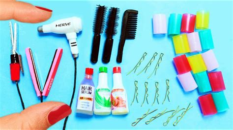 How to Make Miniature Hair Salon Products   10 Easy DIY ...