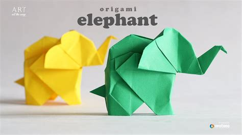 How to make : Origami Elephant  Fumiaki Kawahata    YouTube