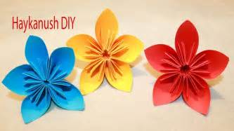 HOW TO MAKE ORIGAMI FLOWERS   EASY ORIGAMI FOR BEGINNERS ...