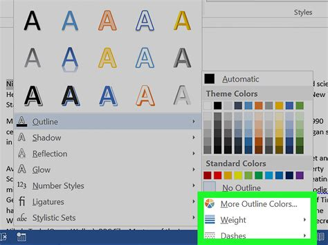 How to Make Outline Text in Word: 5 Steps  with Pictures
