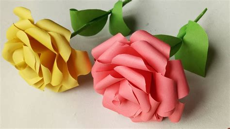 How to make realistic and easy paper roses. Origami Rose