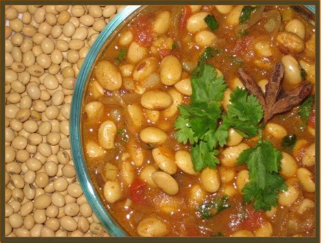 How to Make Soya Bean Curry   Vegetarian Indian Food ...