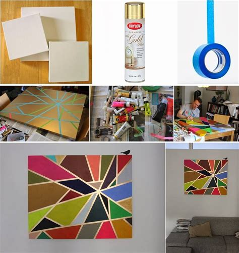 How to Make Tape Painting on Canvas | UsefulDIY.com