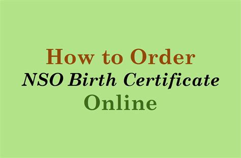 How to Order NSO Birth Certificate Online   YouTube