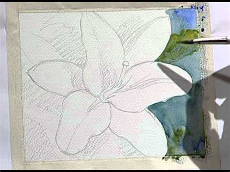 How to paint a beautiful yellow flower 1 / Como pintar una ...