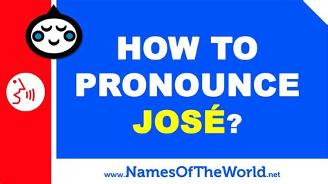 How to pronounce JOSE in Spanish?   Names Pronunciation ...