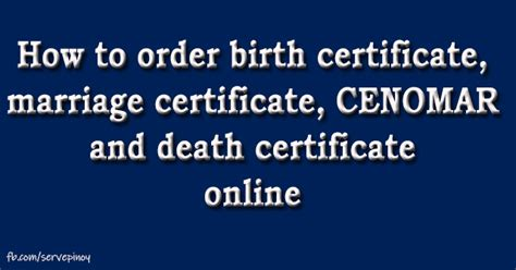 How to request your birth certificate online   Serve Pinoy