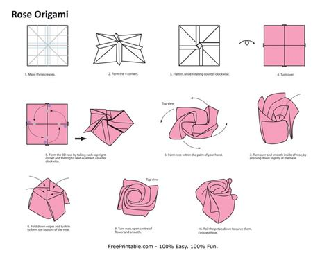 HOW TO ROSE ORIGAMI « EMBROIDERY & ORIGAMI | Origami rose ...