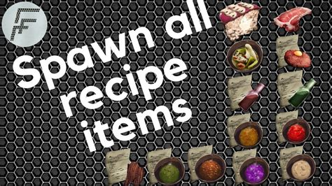 How to spawn all recipe items   ARK: Survival Evolved ...