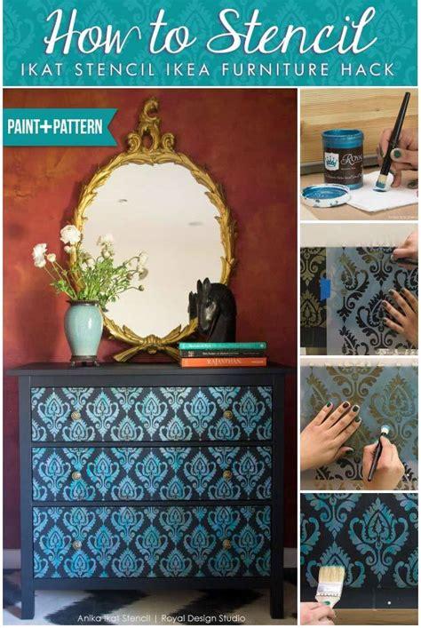 How to Stencil Tutorial: Exotic Ikat DIY Ikea Furniture ...