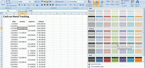 How to Track cash on hand with a table Microsoft Excel ...