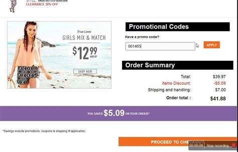 How to use a promo code at Rue 21   YouTube