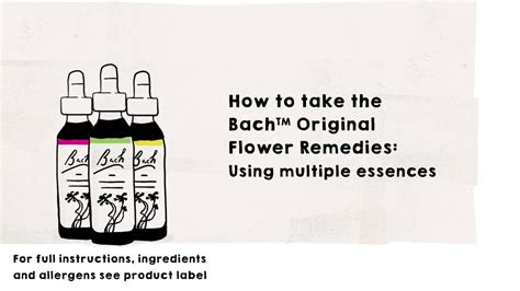 How To Use Bach Flower Remedies | Multiple Essences   YouTube