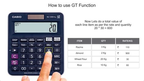 How to use GT  Grand Total  function on Casio Calculators ...